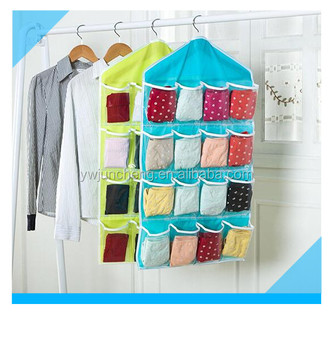 Wall Hanging Storage 16 pocket over the door organizer fabric wall hanging storage