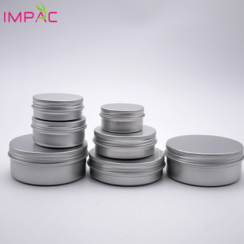 Hot sale cosmetic packaging 30ml 50ml 60ml 80ml 100ml 150ml light weigh round aluminum jar