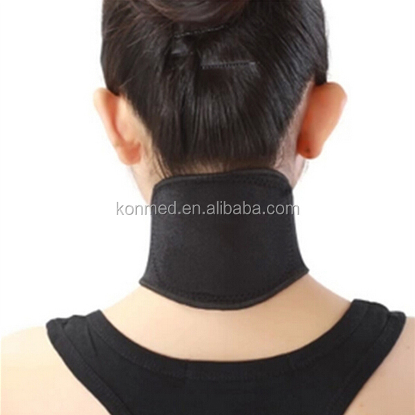 Self-heating neck pain massage relief tourmaline neck guard wrap