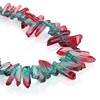 Nature Crystal Chip Nugget Beads Supplies, Full Strand Colored Long Crystal Gemstone Beads for DIY Jewelry Making
