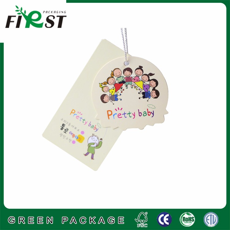 Branded Hot Stamping Clothes Tag/Paper Hangtag/Price Tag for Clothes