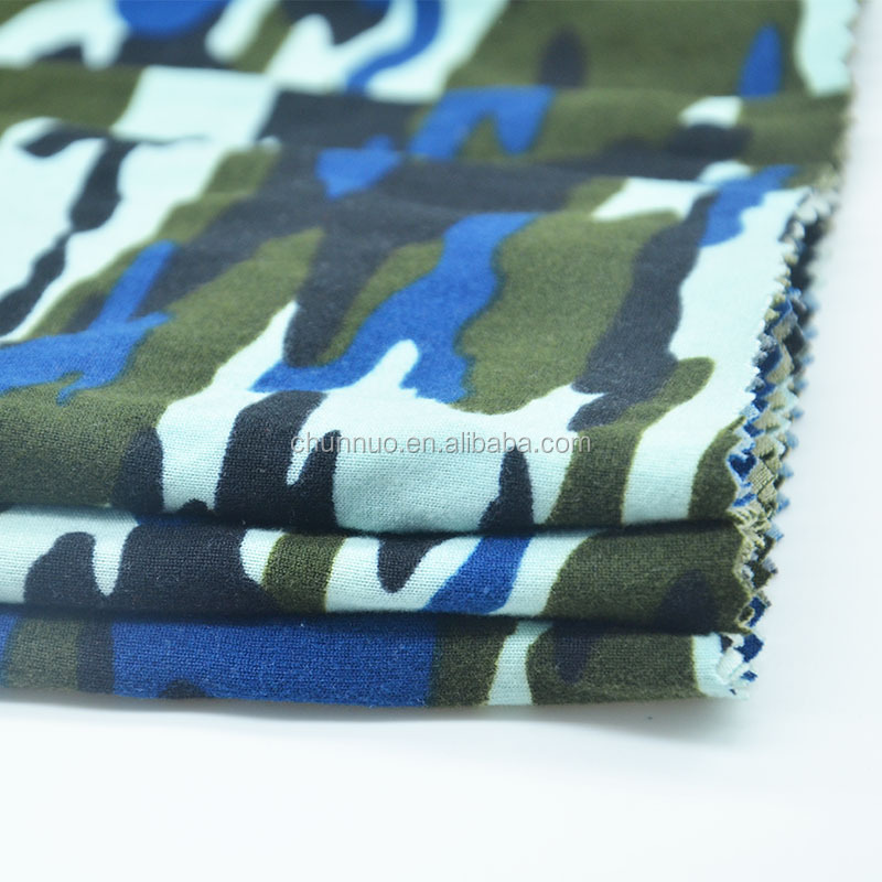 Chunnuo New Arrival Soft Hand Feeling Printing Camouflage Jersey Fabric
