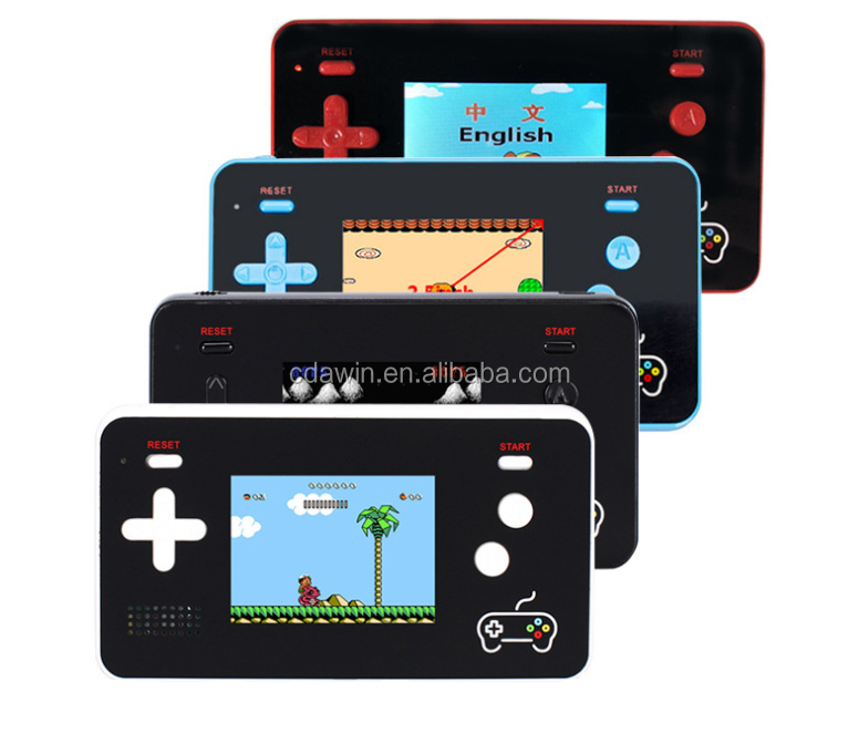 China Factory Price Pocket Handheld Game Console with mini handle built in 188 games no reapeat used as power bank 2.4 inch