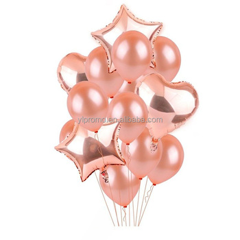 Happy Birthday Party Decoration Rose Gold Balloon
