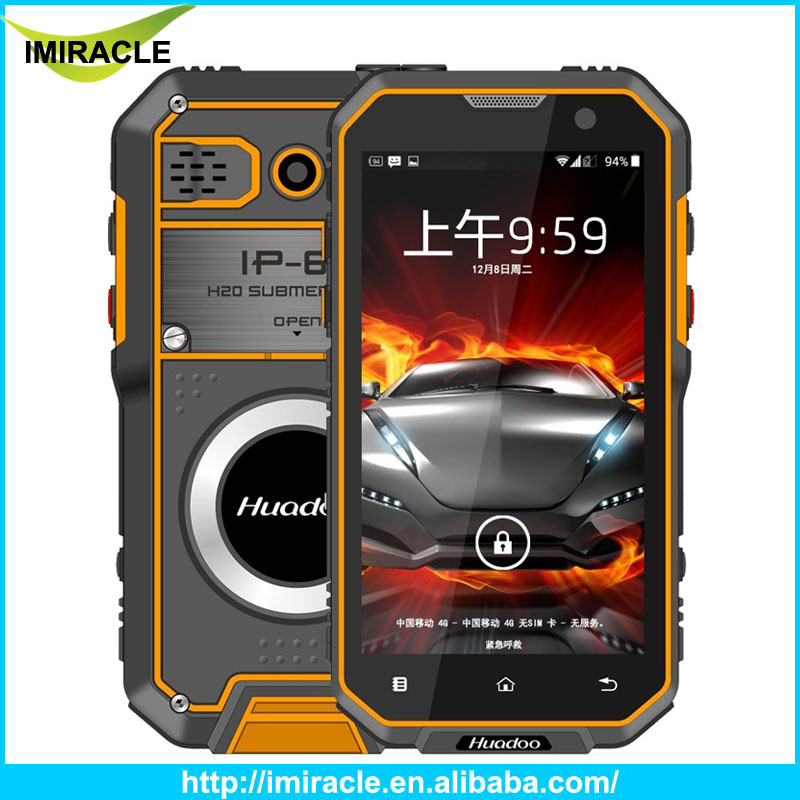Huadoo HG05 Walkie Talkie Smart Phone 5.0 inch Quad Core 4G LTE IP68 Waterproof rugged phone