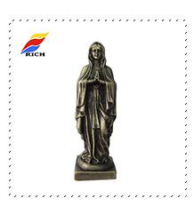 Collectible Metalen Madonna Religieuze Bronzen Standbeeld, Griekse Souvenir Standbeeld