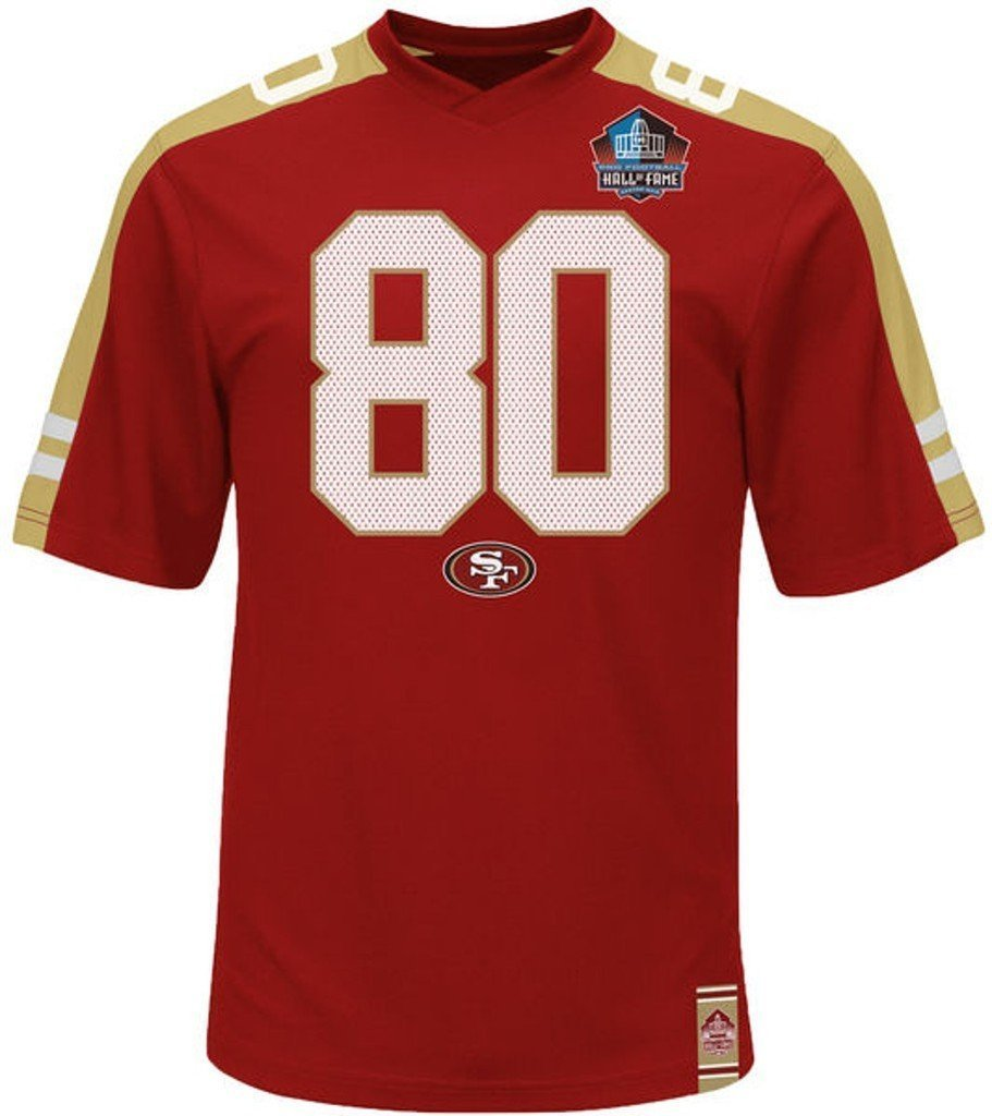 d8c32b490 San Francisco 49ers NFL Mens Jerry Rice Hashmark Jersey Red Big   Tall Sizes