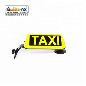 Custom Outdoor Advertising Roof TAXI Sign