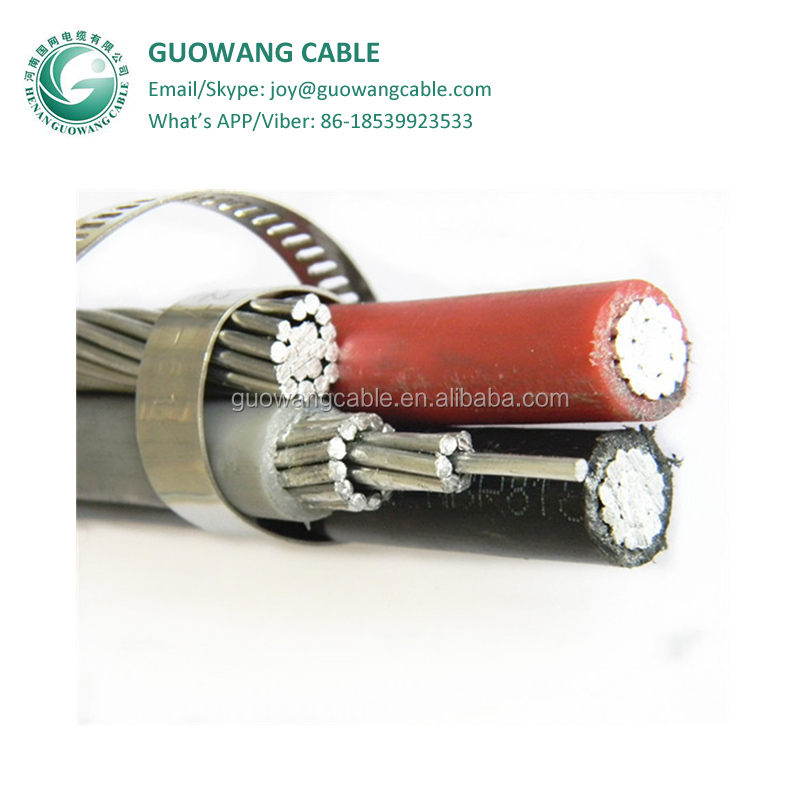 0.6/1kv abc cable duplex service drop Pekingese 6 AWG cable