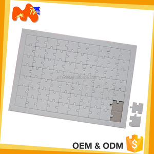 Customized Gift Sublimation Pure White Blank Jigsaw Puzzle