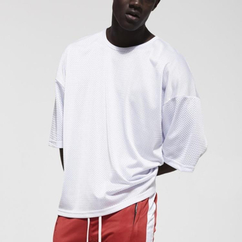 12c92ca533f Fashion gym clothing basketball jersey grey mesh short sleeves tshirt  oversized training tee shirt american apparel