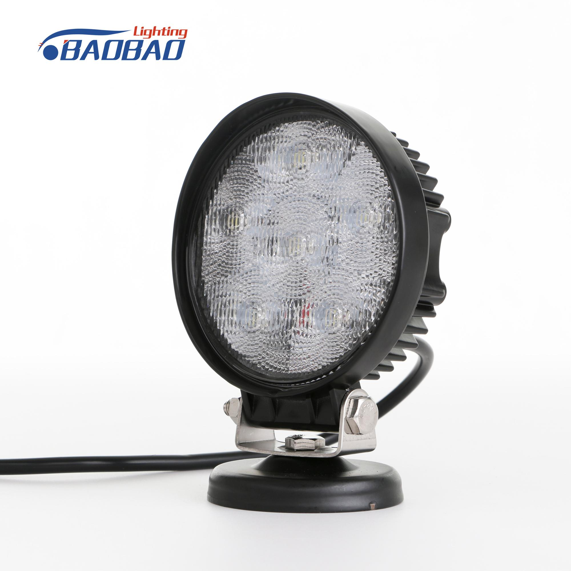 China Factory directly wholesale 12V 24V 18W Round Offroad Auto led work light , led headlight , led driving light