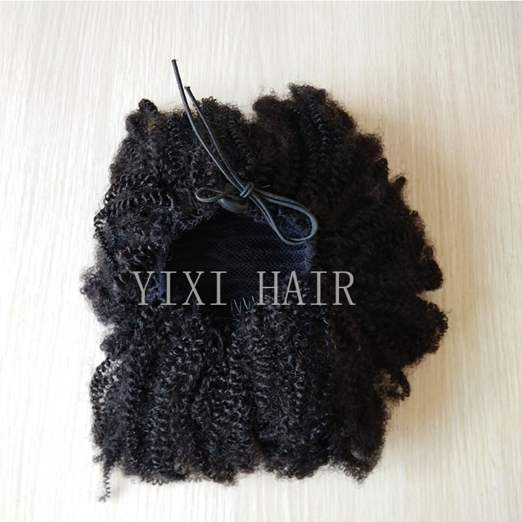 Drawstring Ponytail Afro Tight Kinky Curly Closure фото