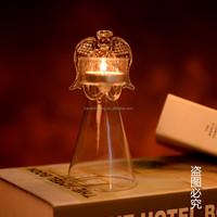 Popular Best Selling Angel Shape Glass Candle Holder