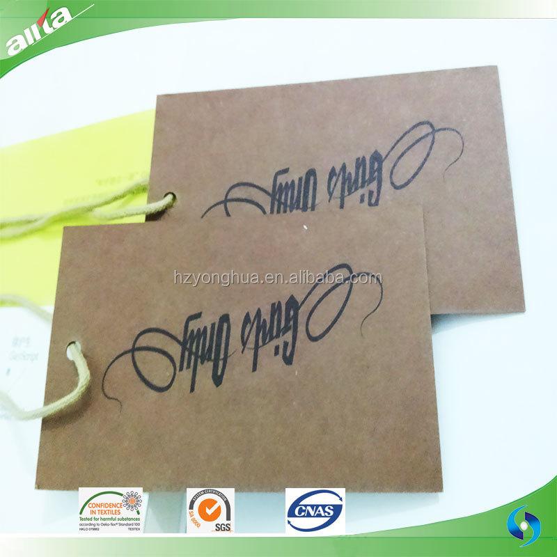 Custom Jeans Kraft Paper Hang Tag With Hd Printing - Buy Jeans ...