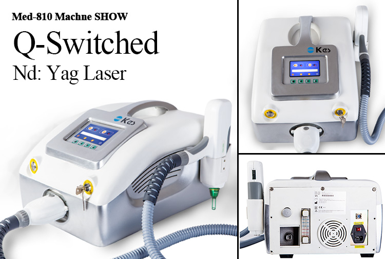 TUV Medical CE arpproved Q-Switched Nd YAG laser tattoo removal beauty machine