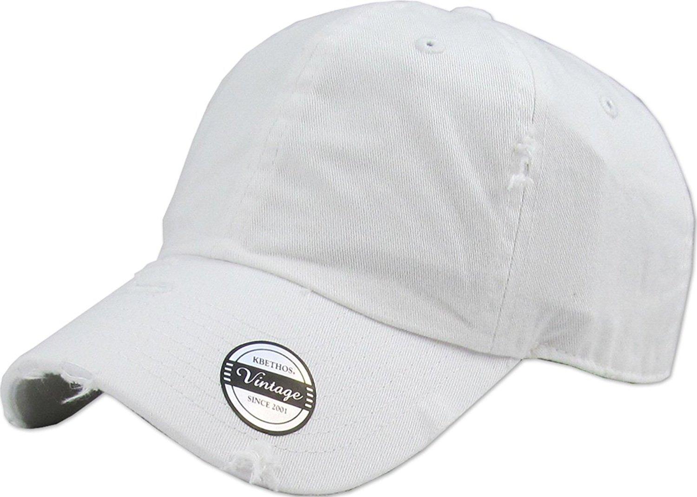 KBETHOS Vintage Washed Distressed Cotton Dad Hat Baseball Cap Polo Style 92d30664e01