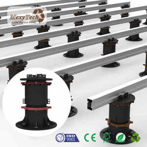 New deck pedestal system with aluminum joist plastic pedstal for wpc decking