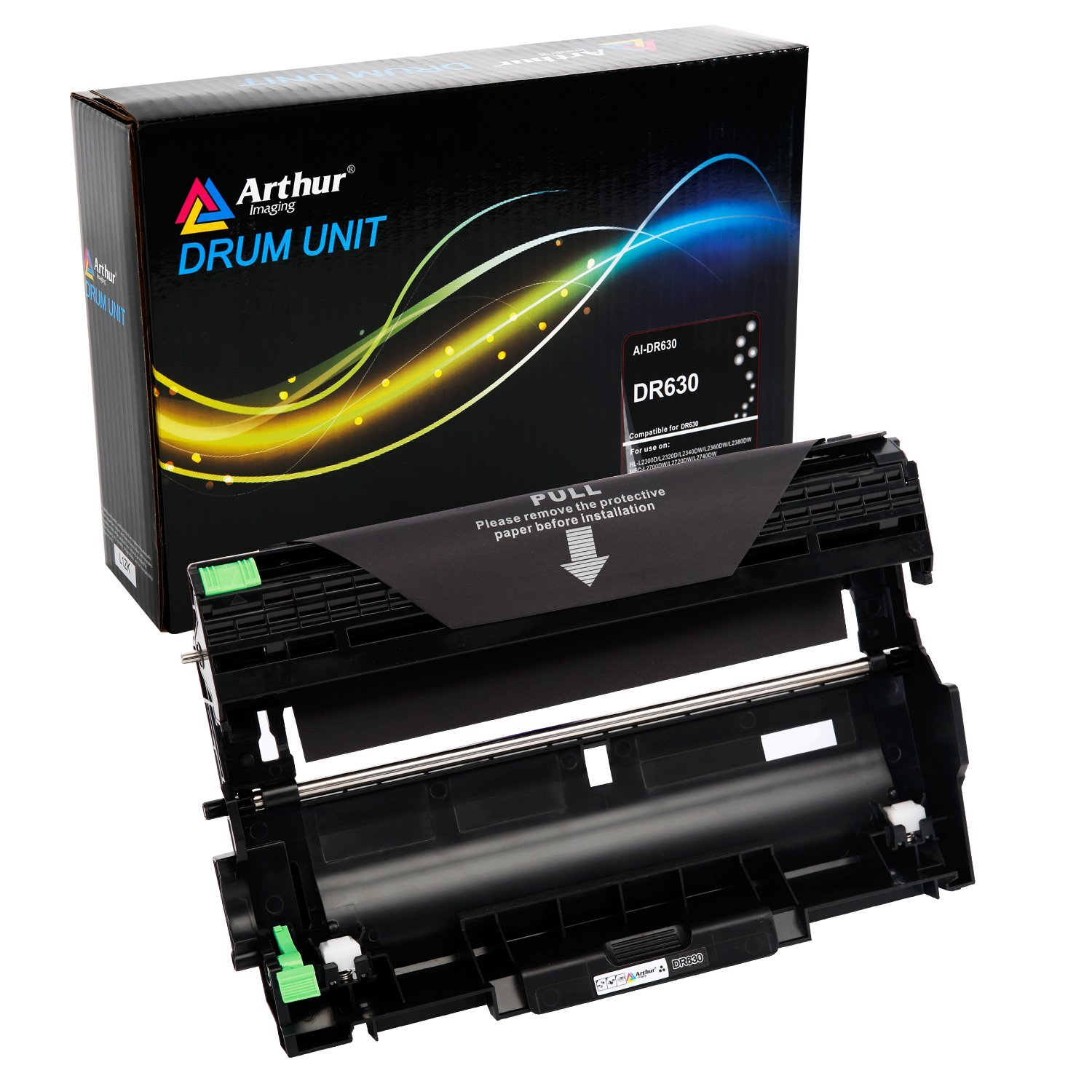 Arthur Imaging Compatible Drum Unit Replacement For Brother DR630, works with Brother TN660 toner cartridge