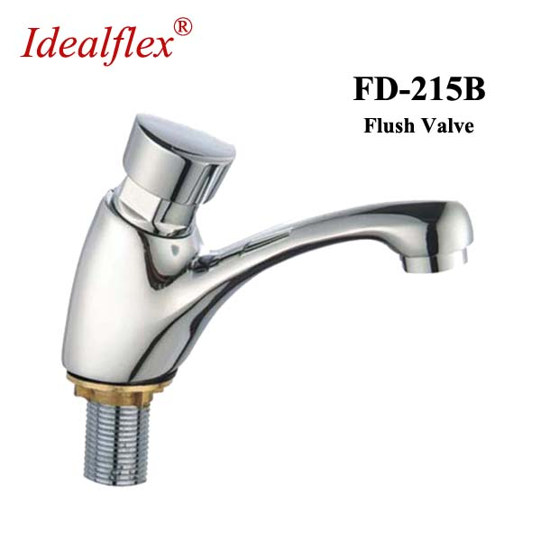 Taizhou factory Chrome plating time delay valve flush valve self-closing basin faucet