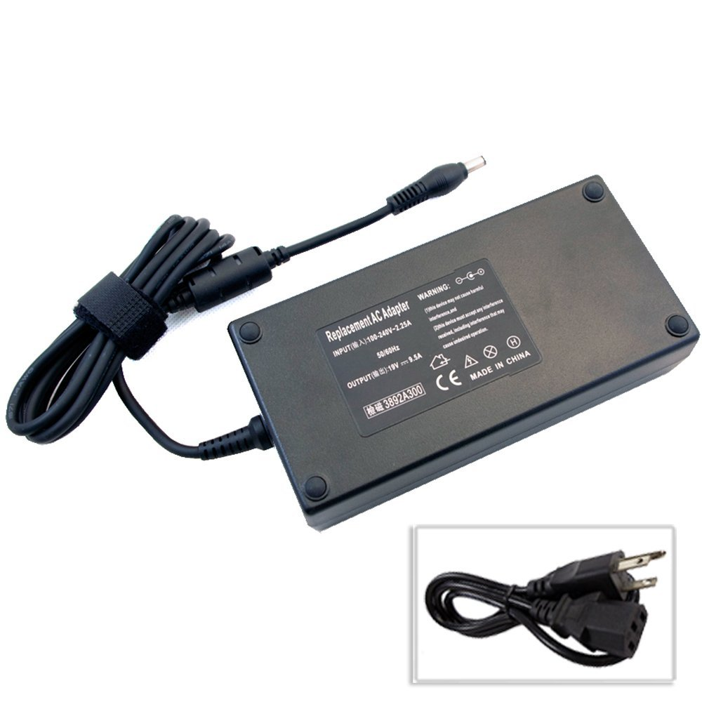 Bestcompu ® 180W 9.5A Replacement AC Power Adapter for MSI Notebook GT60 GT70 ADP-180EB D Alienware M17 M9700 Alienware Area-51 m9750 m 9750 Asus G70 G70S G70Sg Z81SP Asus G55VW G55VW-DS71 G55VW-DS72 G55VW-DS73 G55VW-RS71( 5.5mm / 2.5mm round tip)