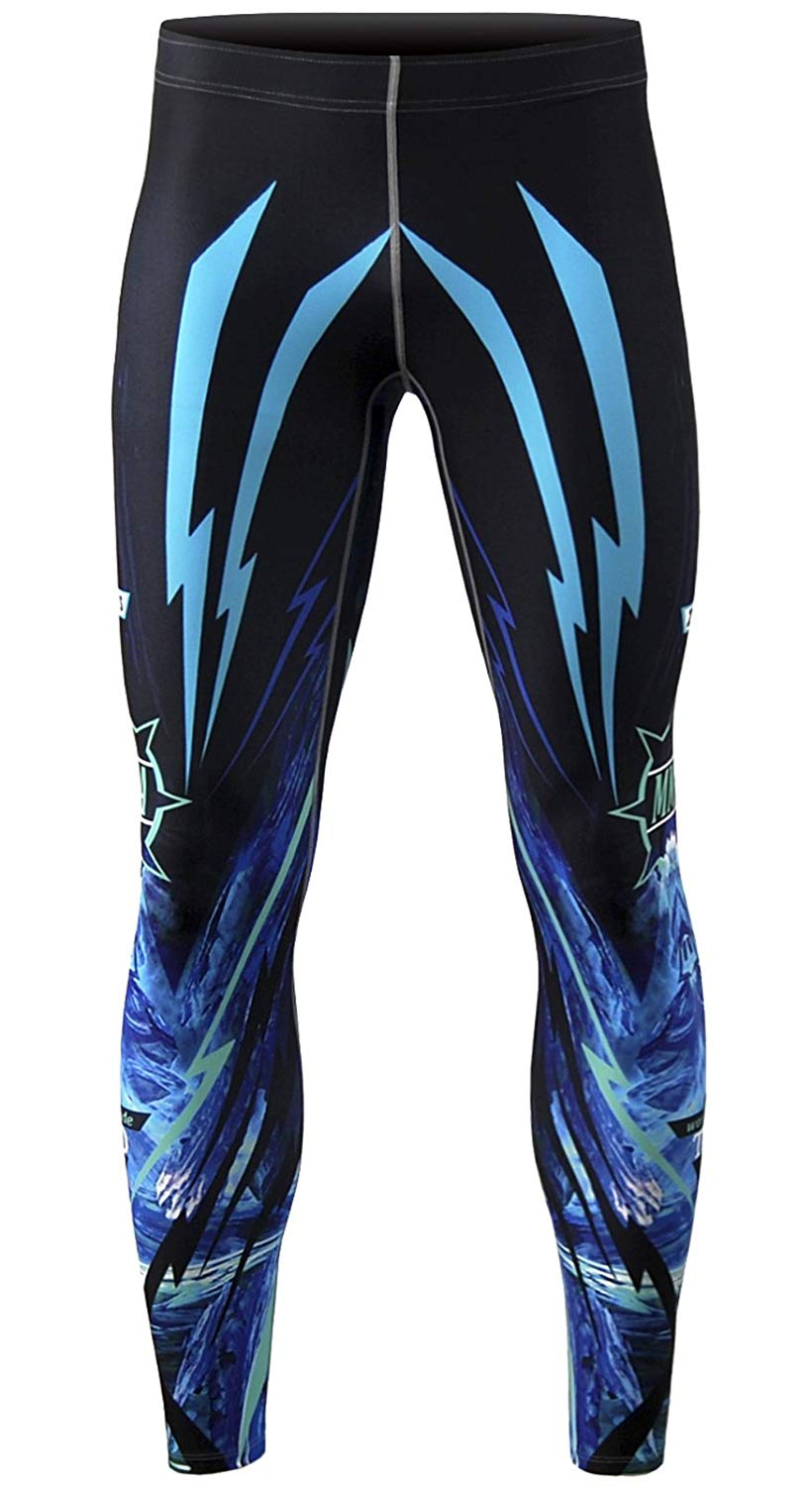 zipravs Mens Athletic Compression Base Layers Running Exercise Fitness MMA Pants Tights