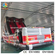 inflatable fire fighting truck used commercial bouncy slide for sale