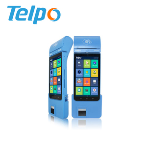 Telpo TPS900 Portable FBI STQC certified biometric payment pos system with QR code scan for bus tickets