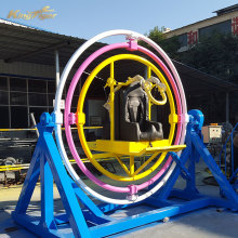 Amusement 3d human gyroscope orbitron electric rides