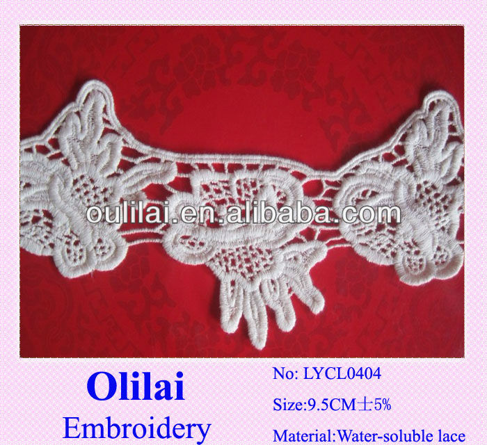 Embroidery motifs lace