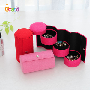 Encai Travel Roll Up Jewelry Case With Compartment Jewellery Storage Holder Accessories Box