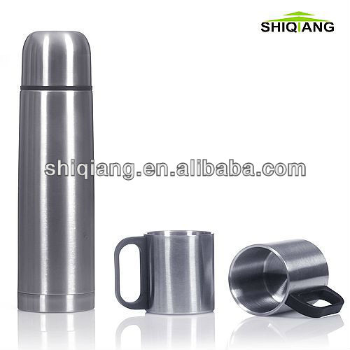 500ml vacuum flask and 2pcs 220ml cups gift set