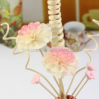 Decorative Reed Flower Diffuser Colorful Sola Flower Colored Wood Flower Buy Handmade Sola Wood Flower Decorative Floral Sticks Sola Wood Rose