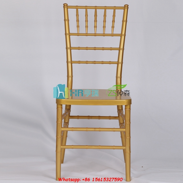 White gold resin PC PP event chivary tiffany chair
