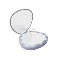 Lighted makeup mirror / makeup light mirror compact mirror with 5x magnifying