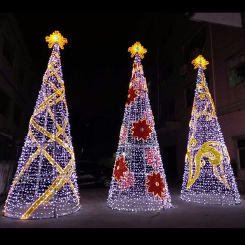 Outdoor Led Christmas Tree For Commercial Street