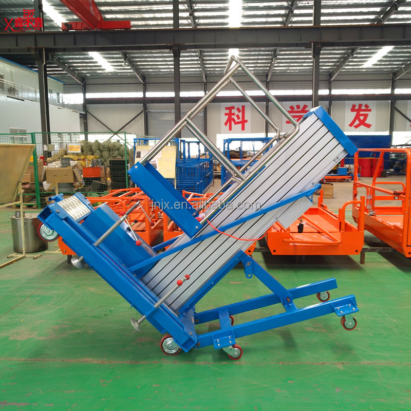 Aerial Working Platform/Electrical ladder lift/single man aluminum lift