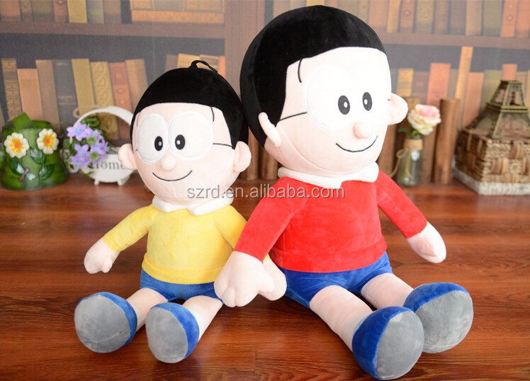 Famous lovely cartoon character litte boy plush doll popular kids plush toy smile boy with a pair of glasses doll