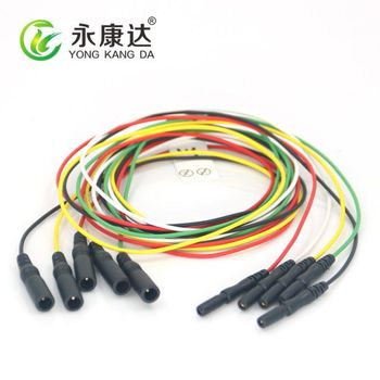 DIN1.5mm jack to 1.5mm pin EEG brain electrodes extension cable