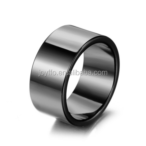 3XB-010 Fashion Men's Ring Jewelry Men Wide Blank Ceramic Ring Blanks For Inlay