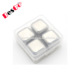FDA& LFGB Cooling Stones Whiskey Stones Mini set 4 Stainless Steel Dice Ice Cube with box