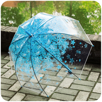 Wholesale Price with Stock and Small order Korean Lady Romantic folding umbrella Transparent three-fold umbrella