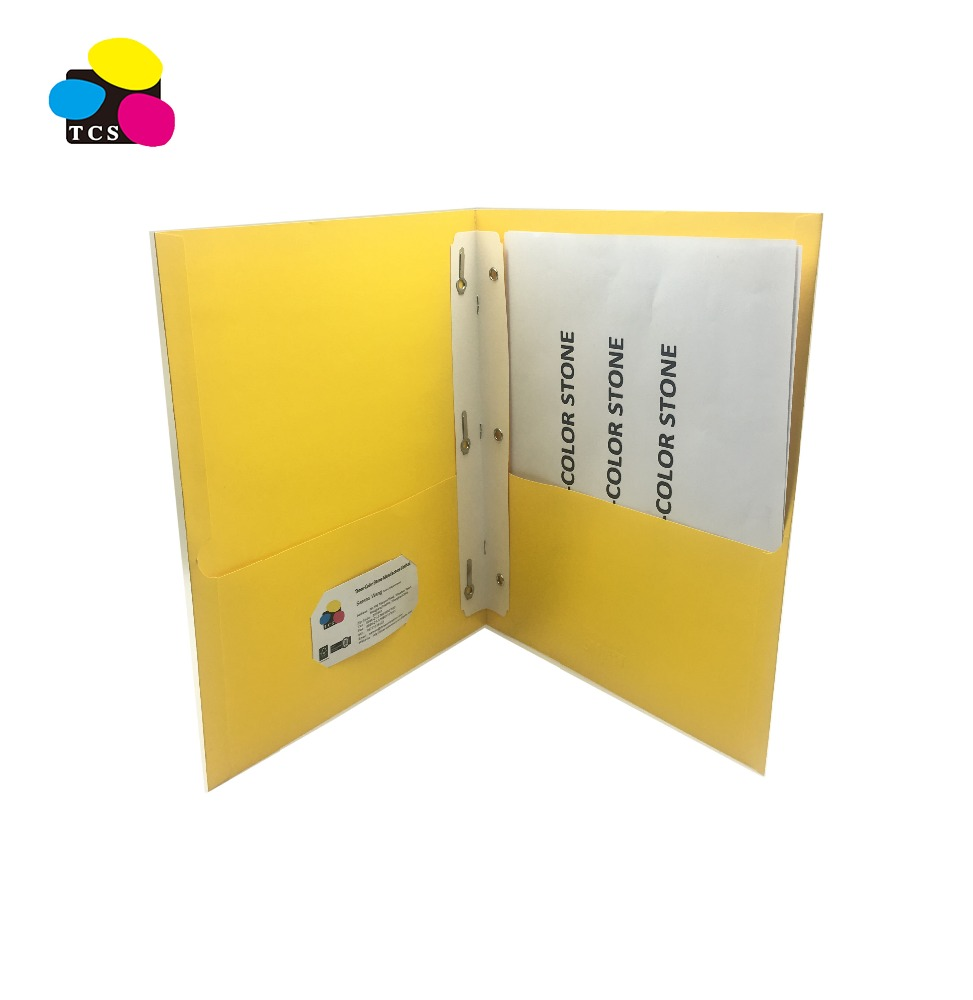 File Folder A4 Paper Folder Portfolio Folder with Two Pockets, Assorted Colors, 100/box