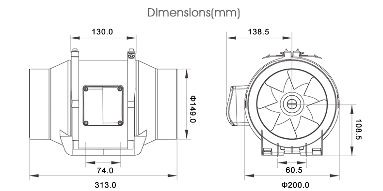 custom design HAVC 6 inch bathroom window/ceiling silent ventilation exhaust kdk fan