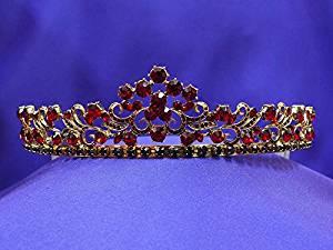 Antique Gold Red Ruby Tiara