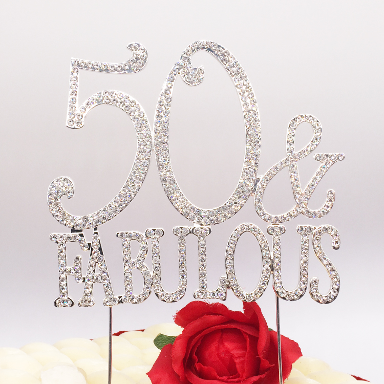 Elegant <strong>Wedding</strong> Birthday Party <strong>Cake</strong> <strong>Accessories</strong> Age Fabulous Birthday <strong>Cake</strong> Topper Wholesale