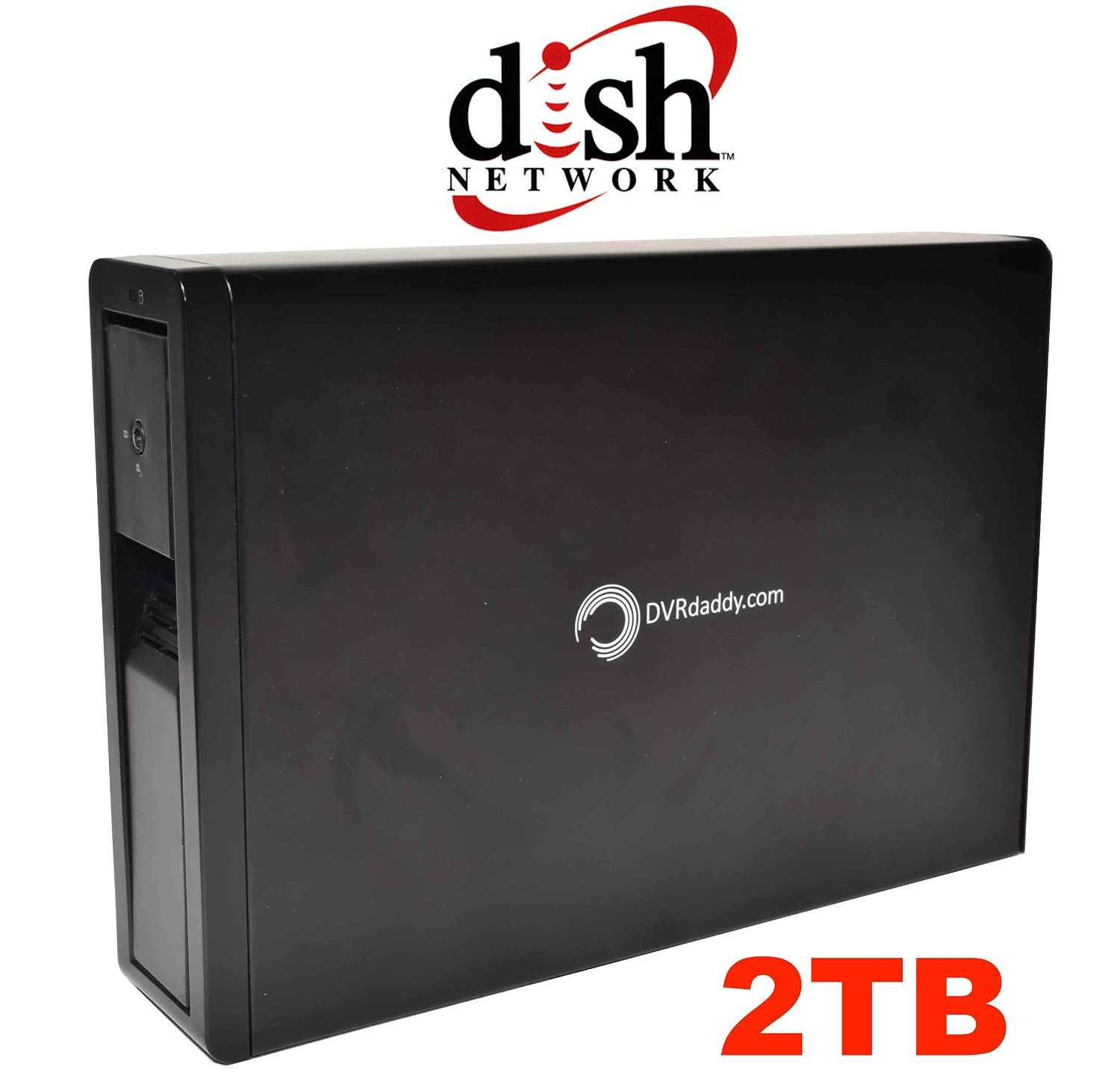 2TB DVRdaddy External DVR Hard Drive Expander For DISH Network ViP 211K 722 722K 622 612 922 DVRs & Hopper. +2000 Hours Recording Capacity!