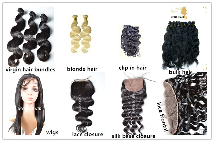 Best Quality Raw Human Hair Extensions 100 Unprocessed Virgin Remy
