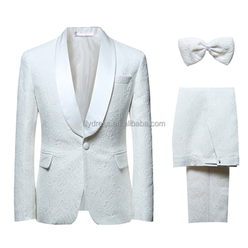 2017 New Costume Male Formal White Wedding Suits Groom Tuxedo Classic Men's Prom Suit Designer Slim Fit Plus Size S-6XL
