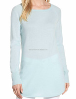 Womens Stylish Wool and Cashmere Blended Tunic Sweater Cashmere Pullover Cashmere Jumper for ladies